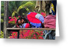 Sleeping Rasta-st Lucia Greeting Card