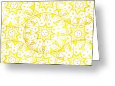 Sleeping Sun Greeting Card