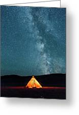 Sleeping Under The Stars Greeting Card