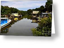 Sleepy Cedar Key Florida Greeting Card