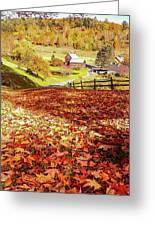 Sleepy Hollow - Pomfret Vermont-1 Greeting Card