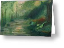 Sleepy River Greeting Card