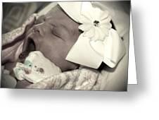 Sleepy Ryleigh Greeting Card by Regina McLeroy