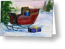 Sleigh Aceo Greeting Card
