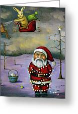 Sleigh Jacker Greeting Card by Leah Saulnier The Painting Maniac