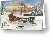 Sleigh Ride Greeting Card