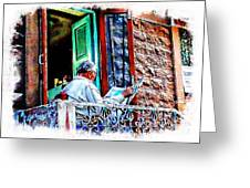Slice Of Life Sunny Sunday Morning Newspaper India Rajasthan Udaipur 2a Greeting Card