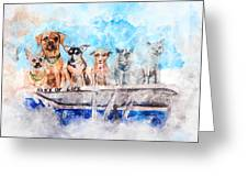 Slice Of Life Watercolor Greeting Card by Michael Colgate