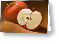 Sliced Apple Greeting Card