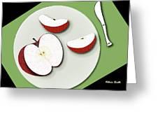Sliced Apple Greeting Card