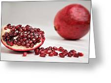 Sliced Pomegranate Greeting Card