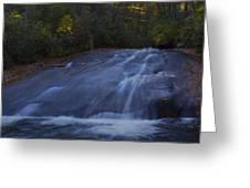 Sliding Rock Falls Greeting Card