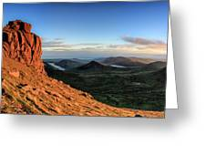 Slieve Bearnagh Rusty Golden Sunset Greeting Card