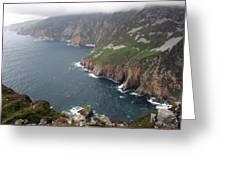 Slieve League Cliffs Greeting Card by John Quinn