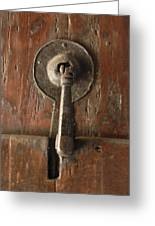 Slim Door Knocker Greeting Card