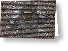 Slimer Mosaic Greeting Card
