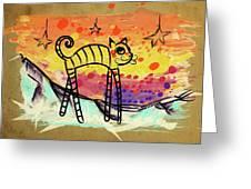 Slinky Cat Greeting Card