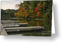 Slips In Autumn Greeting Card