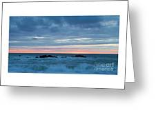 Sliver Of Pink At Moonstone Beach Greeting Card