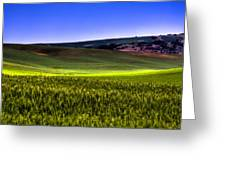Sliver Of Sunlight On The Palouse Hills Greeting Card