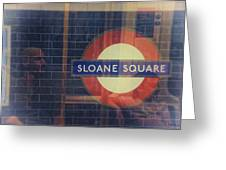Sloane Square Portrait Greeting Card