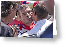 S.loeb 2 Minutes After Winning Wrc Rally Bulgaria 2010 Greeting Card