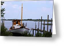 Sloop In Paradise - Debbie May - Photosbydm Greeting Card