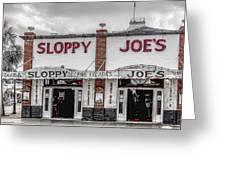 Sloppy Joe's Saloon- Key West Greeting Card
