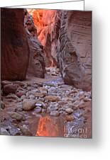 Slot Canyon Reflections Greeting Card
