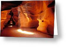 Slot Canyon Warm Light Greeting Card by Garry Gay