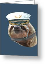 Sloth Monacle Captain Hat Sloths In Clothes Greeting Card