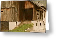 Slovenian Barn Greeting Card