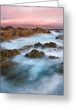 Slow Exposure Of A Kerry Sunset Ireland Greeting Card