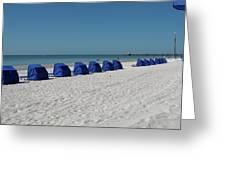 Slow Morging At The Beach Greeting Card