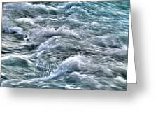 Slow Motion Rapids Greeting Card