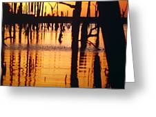 Slue Sunset Greeting Card