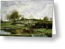 Sluice In The Optevoz Valley Greeting Card