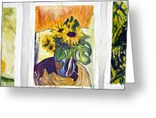 Slunecny-triptych Greeting Card