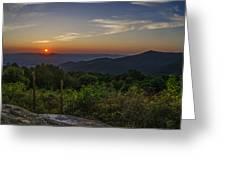 Skyline Drive National Park At Sunset Greeting Card