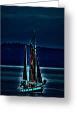 Small Among The Tall Ships Greeting Card