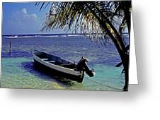 Small Boat Belize Greeting Card