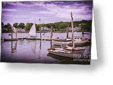 Small Boat Day Greeting Card