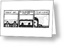 Small Brown Bike Comic Greeting Card