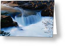 Small Cascade In Maligne Canyon Greeting Card