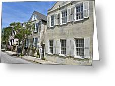 Small Colonial Style Homes Greeting Card