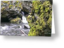 Small Falls At Boulder Cave Greeting Card