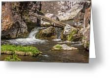 Small Falls Below Big Falls Greeting Card