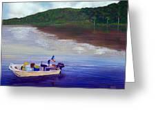 Small Fishing Boat Greeting Card by Tony Rodriguez