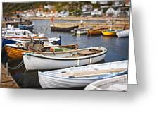 Small Fishing Boats Greeting Card