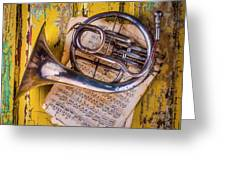 Small French Horn Greeting Card